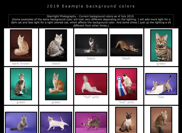 background color examples